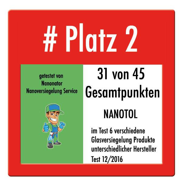 Platz 2 Test Nanoversiegelung Glasversiegelung