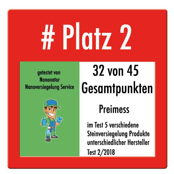 Platz 2 Steinversiegelung Test Preimess