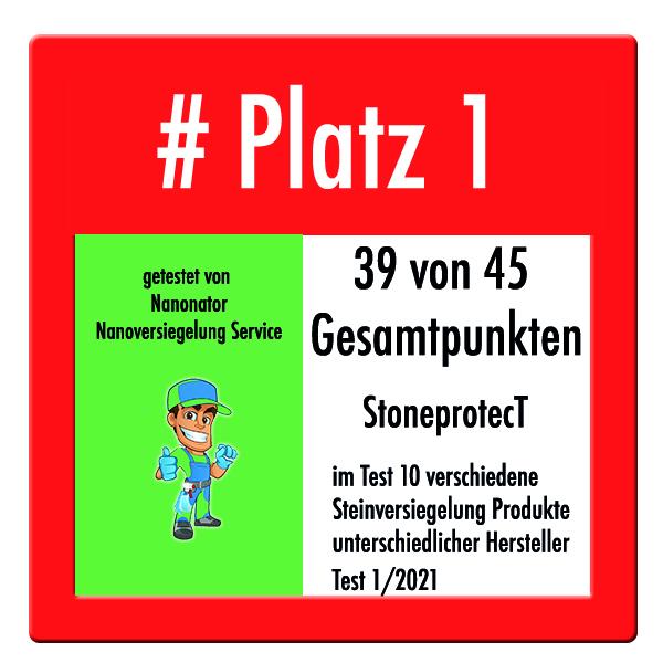 Platz 1 und Testsieger Steinversiegelung 2020 CleanglaS Stoneprotect SP5000 Brio International Inc cleanglas im Steinversiegelung Test 2021