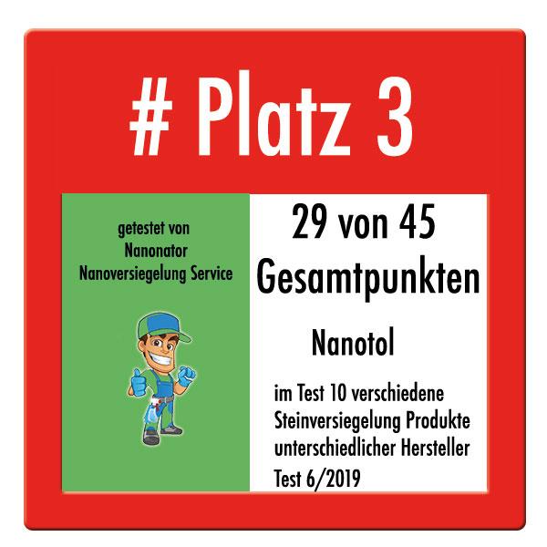 Steinversiegelung Test 2019 Platz 3 Nanotol